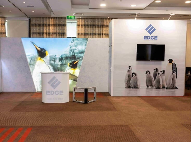 Modular display stand produced for Nomadic Display Edge launch