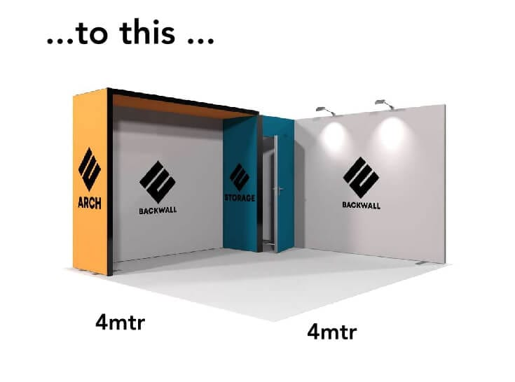 To this Modular Fabric Exhibition Stand